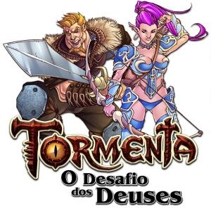 Logo do jogo Tormenta: O Desafio dos Deuses.