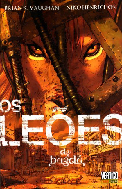 """Arte da capa:""""Os leões de Bagdá""""."""