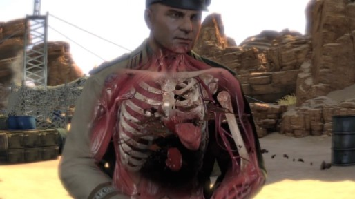 """Sniper Elite 3 """"Então, você só tem uma bala perfurando todos os seus órgãos vitais """""""